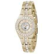 Relic Ladies Calendar Date Watch w/Crystal White Mother-of-Pearl Dial & GT Link Band at Sears.com