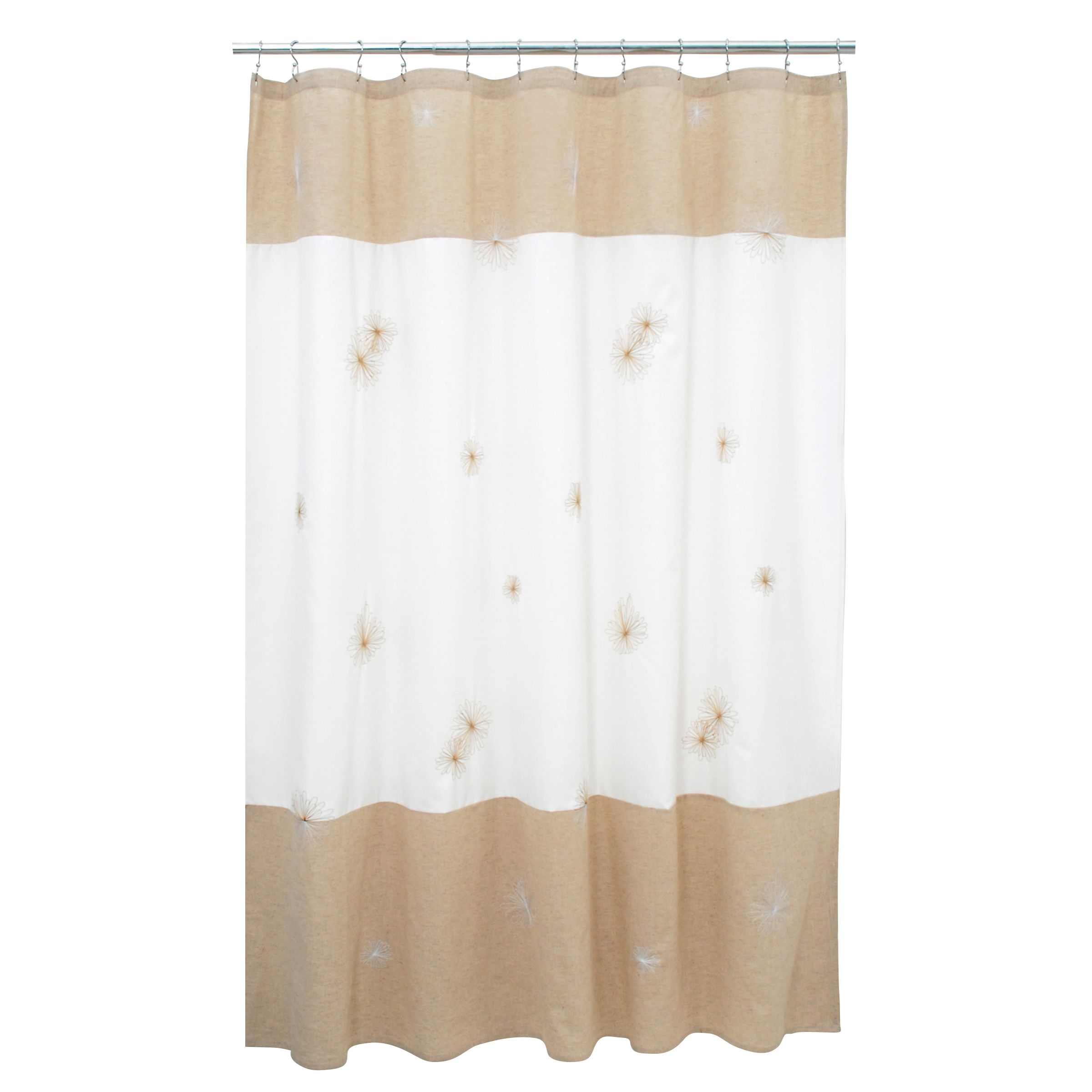 Shower Curtain Spiro Beige Fabric