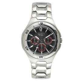 Elgin Mens Round Black Dial Stainless Steel with Gold Accents Watch at Kmart.com