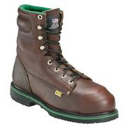 "Work One Men's Work Boots Aeromet Leather Steel Toe 8"" Brown E-608 Wide Avail at Sears.com"
