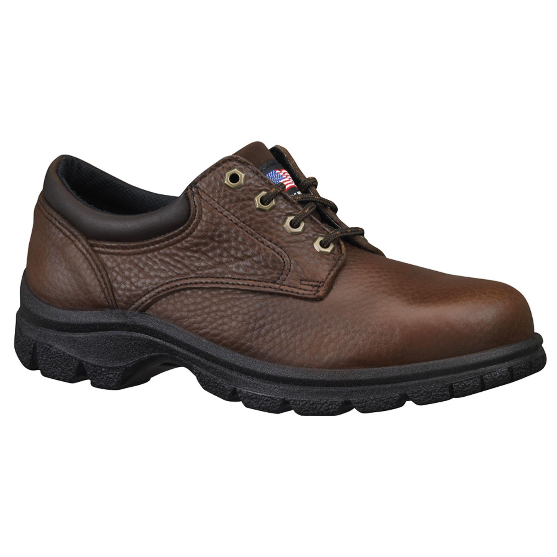 Thorogood Men's American Heritage 804-4760 Brown Steel Toe Work Shoes - Wide Width Available