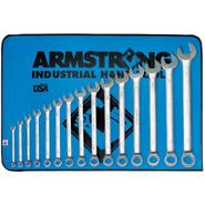 Armstrong 15 pc. 12 pt. Satin Finish Long Combination Wrench Set at Sears.com