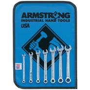 Armstrong 7 pc. 6 pt. Full Polish Short Combination Wrench Set/Vinyl Roll Pouch at Sears.com