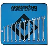 Armstrong 10 pc. 6 pt. Full Polish Long Combination Wrench Set in Vinyl Roll Pouch at Sears.com