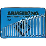 Armstrong 18 pc. 12 pt. Full Polish Long Combination Wrench Set in Vinyl Roll Pouch at Sears.com