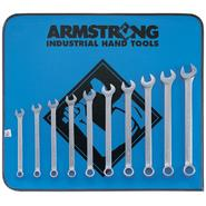 Armstrong 10 pc. 12 pt. Satin Long Combination Wrench Set in Vinyl Roll Pouch at Sears.com