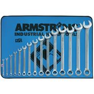 Armstrong 15 pc. 12 pt. Satin Finish Long Combination Wrench in Vinyl Roll Pouch at Sears.com