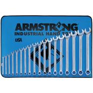 Armstrong 18 pc. 12 pt. Satin Finish Long Combination Wrench in Vinyl Roll Pouch at Sears.com
