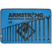 Armstrong 15 pc. 12 pt. Black Oxide Long Combination Wrench Set in Vinyl Roll Pouch at Sears.com