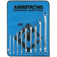Armstrong 9 pc. 12 pt. Full Polish 45 degree Offset Box Wrench Set in Vinyl Roll Pouch at Sears.com
