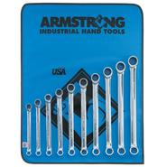 Armstrong 10 pc. 12 pt. Full Polish Ratcheting Wrench Set in Vinyl Roll Pouch at Sears.com