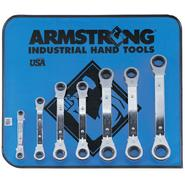 Armstrong 7 pc. 25 degree Offset Ratcheting Box Wrench Set in Vinyl Roll Pouch at Craftsman.com