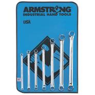 Armstrong 7 pc. 12 pt. Full Polish 15 degree Offset Box Wrench Set in Vinyl Roll Pouch at Sears.com