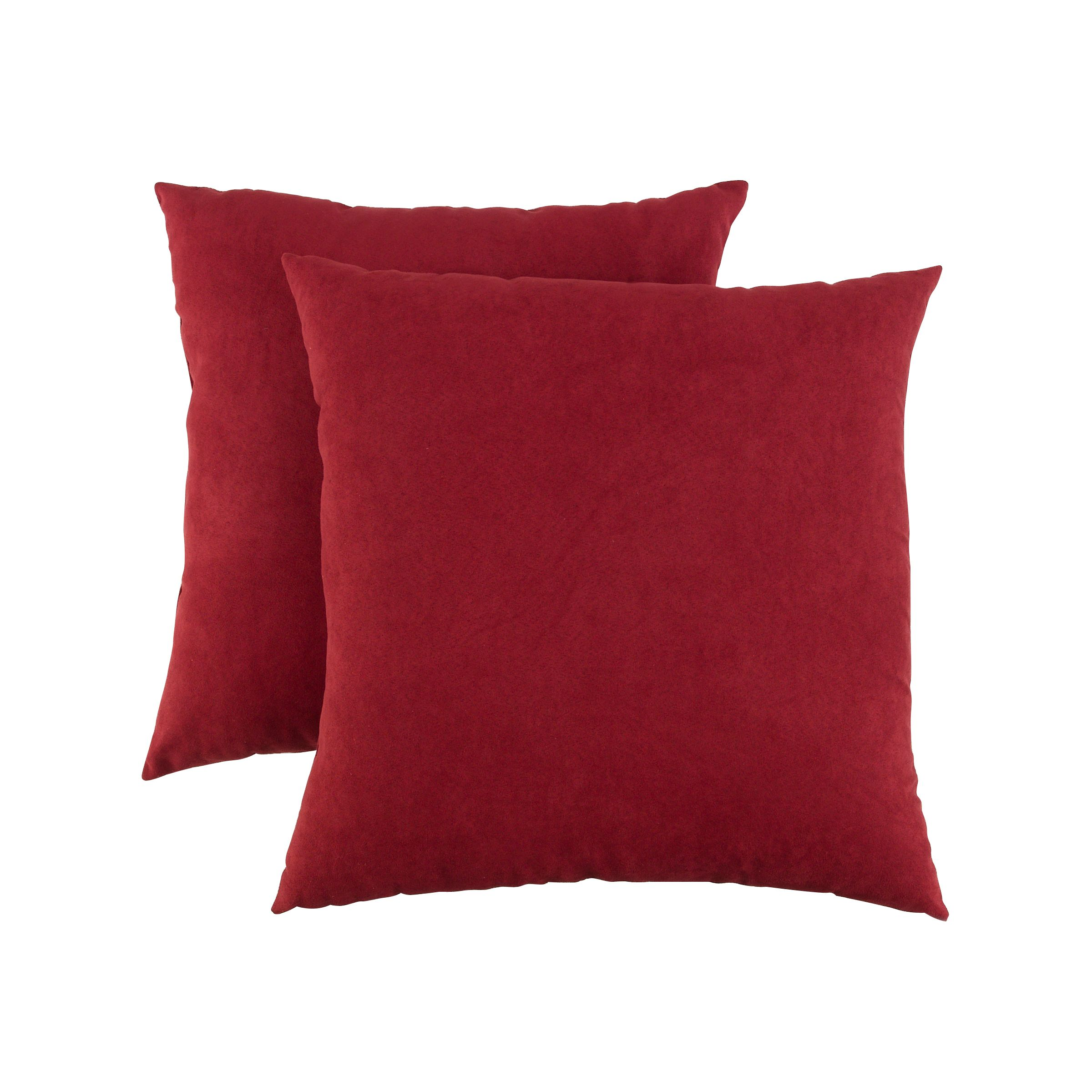 Decorative Pillows Kmart : Essential Home Faux Suede 2-pack Decorative Pillows- Red