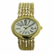Ladies Mutli Chain Bracelet with Adjustable Links Watch; Easy Read Dial at Kmart.com
