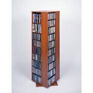 "Leslie Dame High Capacity 61-1/2""H x 18""W x 18""D Spinning Multimedia Storage Rack - Cherry Finish at Kmart.com"