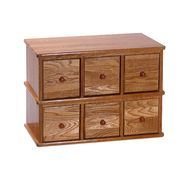 "Leslie Dame 15-1/4""H x 21""W x 12-1/4""D Solid Oak Apothecary Style Media Cabinet - Natural Oak Finish at Kmart.com"