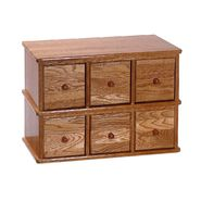 "Leslie Dame 15-1/4""H x 21""W x 12-1/4""D Solid Oak Apothecary Style Media Cabinet - Oak Finish at Kmart.com"