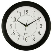 "Timekeeper Round 12"" black frame glass face at Sears.com"