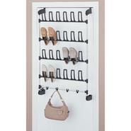 Organize It All Over-Door 12-Pair Shoe Rack with 4 Hooks at Kmart.com