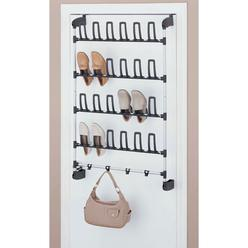 Organize It All Basic Overdoor Shoe Rack With Hook 12 Pair