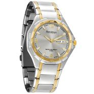 Armitron Mens Two-Tone Steel Calendar Day/Date Watch w/Round Gray Sunray Dial at Sears.com