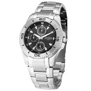 Armitron Mens Multi-function Steel Watch w/Round Black Dial and Silvertone Link Band at Sears.com