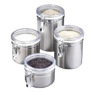 Essential Home 4 pc. Canister Set, Stainless Steel at Kmart.com