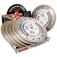MK Diamond 7 in. Wet/Dry Cutting Turbo Rim Diamond Tile Blades, 6 Pack at Sears.com