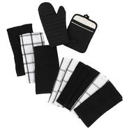 Essential Home 2 Pack Kitchen Towel - Black at Kmart.com