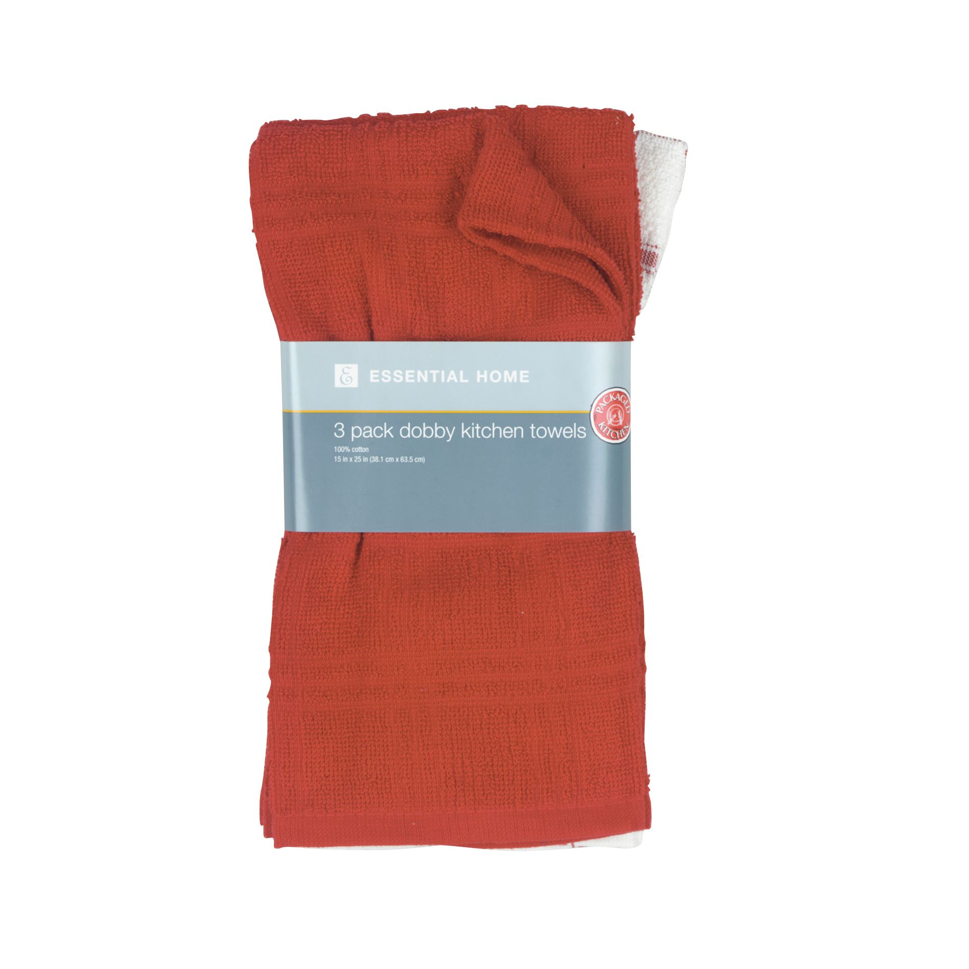 3 Pack Kitchen Towel - Red                                                                                                       at mygofer.com
