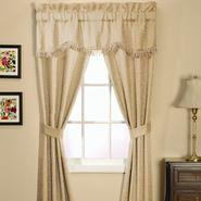 Essential Home Classic Scroll 5 Piece Window Set-  Natural at Kmart.com
