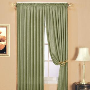 Essential Home Luxury Crushed Faux Silk Panel - Sage