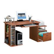 "Techni Mobili Kansas 61""W MDF Computer Workstation with File Drawer - Mahogany at Kmart.com"