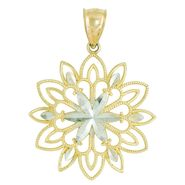 Sparkle Cluster Pendant. 10K White and Yellow Gold at Sears.com