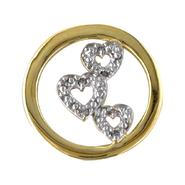 Circle Charm with Diamond Bubble Hearts. 10K Yellow Gold at Kmart.com