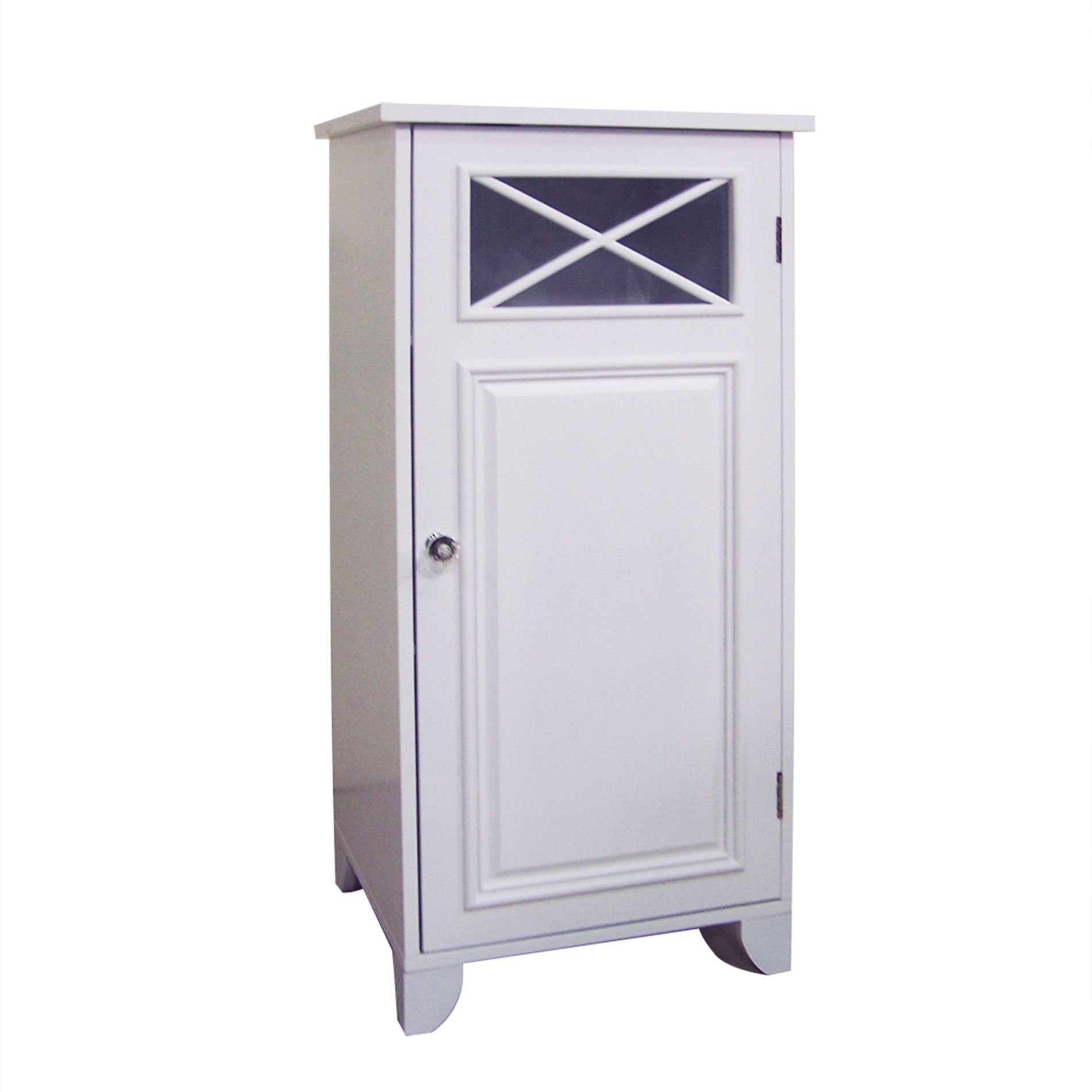 Elegant Home Dawson Bathroom Floor Cabinet   White