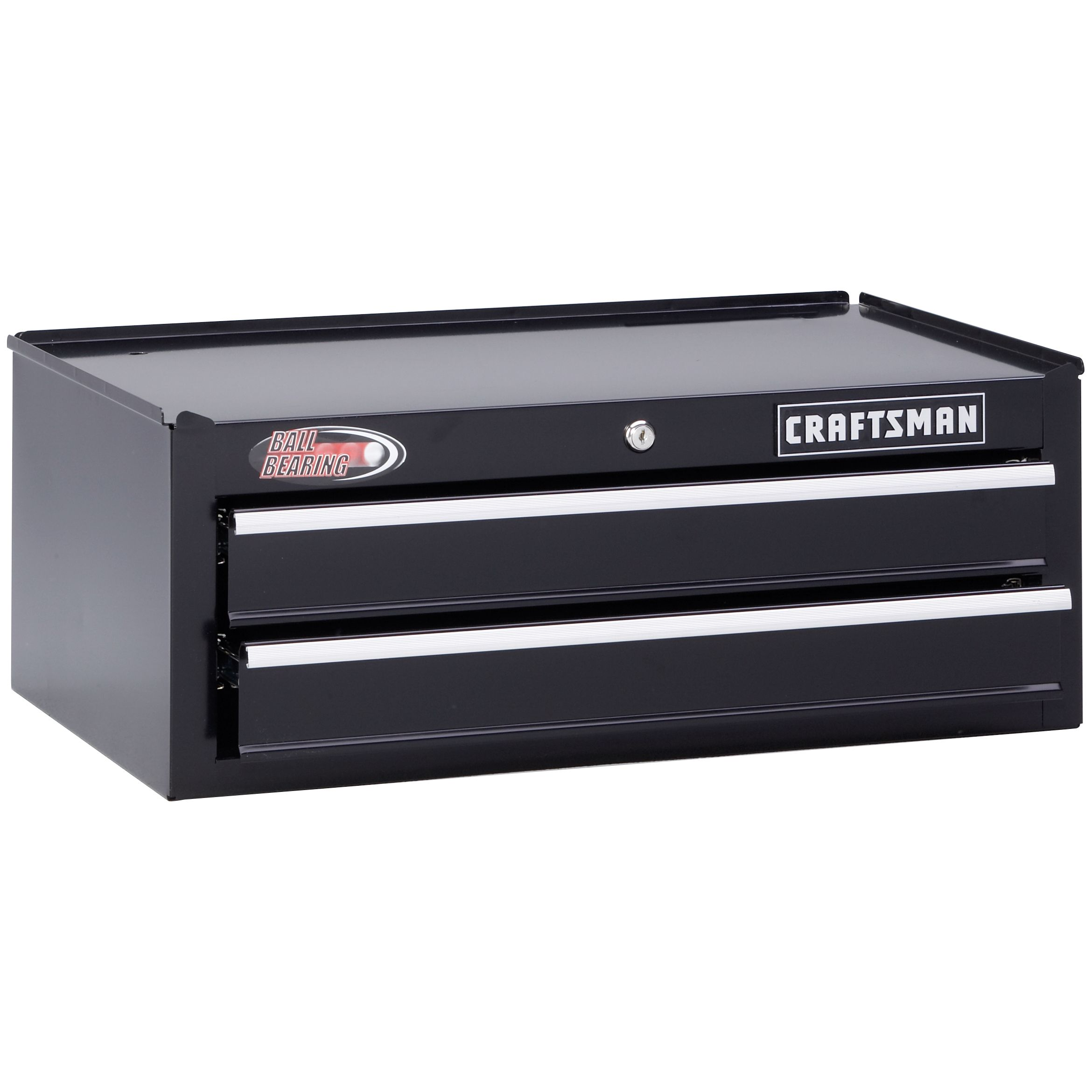 "Craftsman 26-1/2"""" 2-Drawer Ball-Bearing Intermediate Tool Chest - Black"