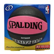 Spalding Varsity Mid Size Outdoor Basketball - Black and Pink - 28.5 Inch at Kmart.com