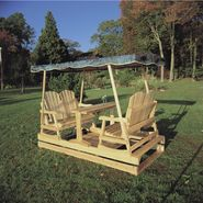 Cedar Looks Natural Cedar Patio Glider - Green at Sears.com