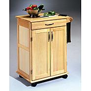 "Home Styles 34""H x 28-1/2""W x 18""D Kitchen Cart with Solid Wood Top - Natural Finish at Kmart.com"
