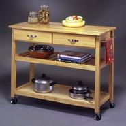"Home Styles 36""H x 44""W x 20-1/2""D Wood Top Kitchen Cart/Work Center at Sears.com"