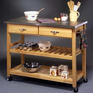 "Home Styles 36""H x 44""W x 20-1/2""D Stainless Steel Top Kitchen Cart/Work Center at Kmart.com"