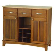 "Home Styles Large 35-1/2""H x 41-3/4""W x 16-3/8""D Buffet with Solid Wood Top - Cottage Oak Finish at Kmart.com"
