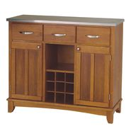 "Home Styles Large 35-1/2""H x 41-3/4""W x 16-3/8""D Buffet with Stainless Steel Top - Cottage Oak Finish at Kmart.com"