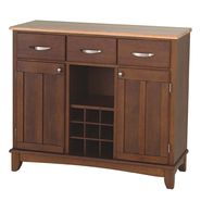"Home Styles Large 35-1/2""H x 41-3/4""W x 16-3/8""D Buffet with Solid Wood Top - Cherry Finish at Kmart.com"