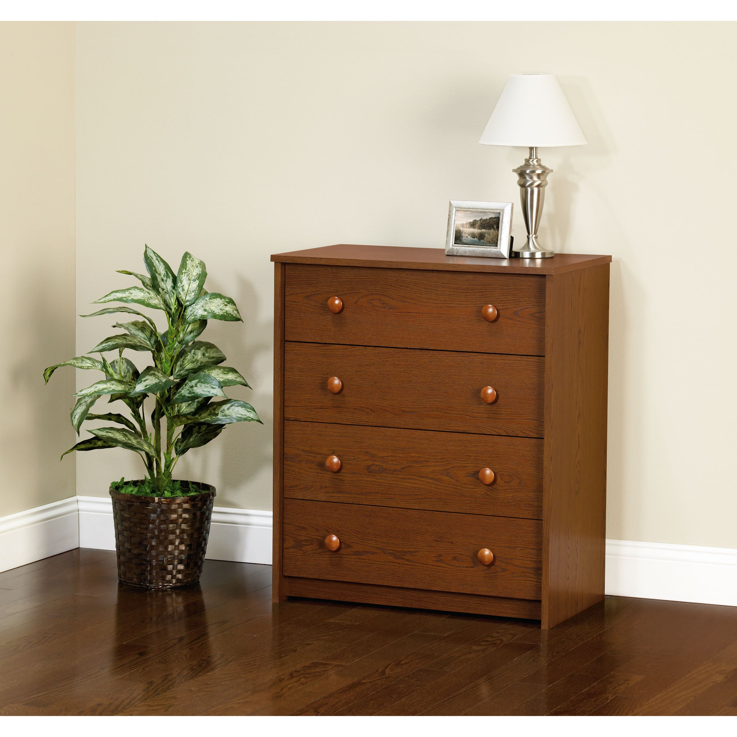 Belmont 4 Drawer Chest - Walnut