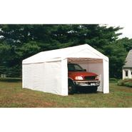 Shelter Logic 10x20 - 8 Leg Canopy White w/ Enclosure Kit at Sears.com