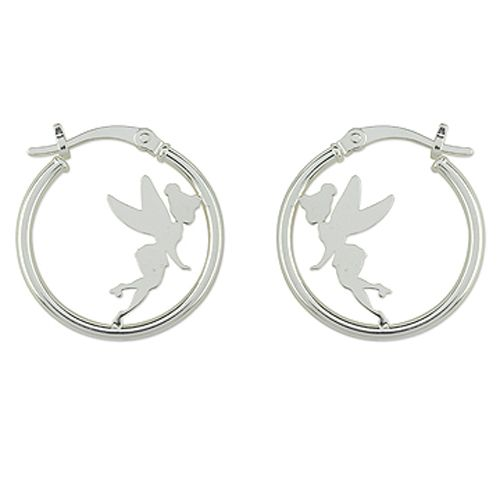 Sterling Silver Hoop Earrings Featuring
