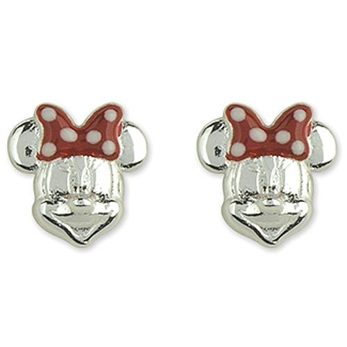 Sterling Silver Minnie Mouse Stud Earrings